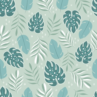 Tropical seamless pattern. tropical background