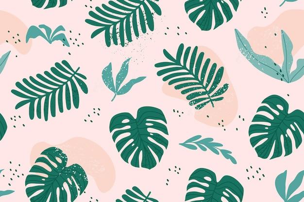 Monstera와 이국적인 잎 열 대 완벽 한 패턴입니다.
