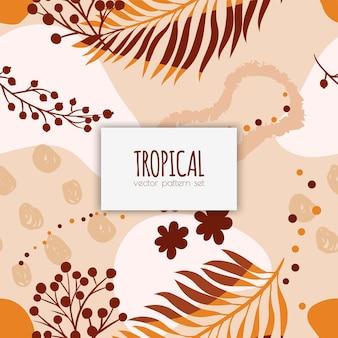 Тропический бесшовный образец