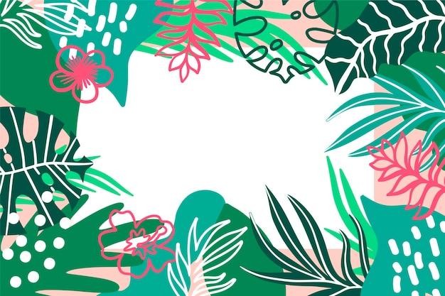 トロピカルスタイルの葉の背景