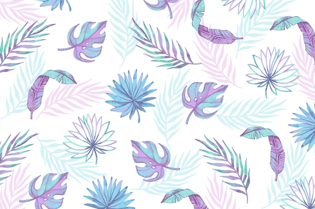 Tropical style leaves collection