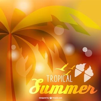 Тропический фон лето