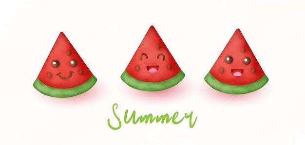 잘라 사과와 열 대 여름 배너
