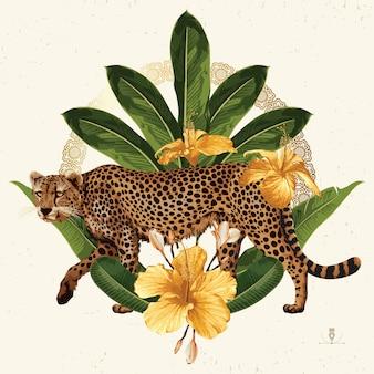 열대 여름 클립 아트. 배경 디자인에 유용한 여름 상징.