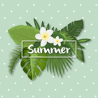 Tropical summer design