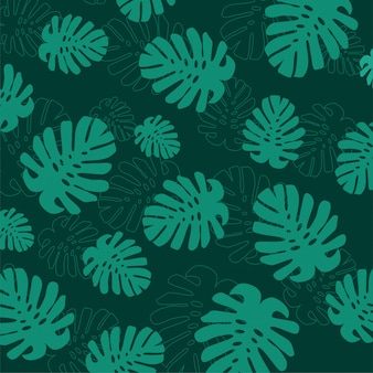Tropical summer leaves background
