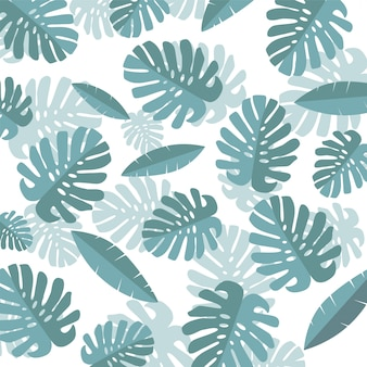 Tropical summer leaves background.