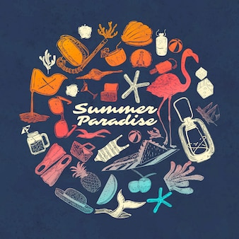 Tropical summer paradise