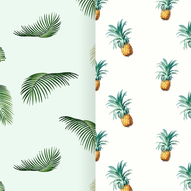 Tropical summer pattern illustration