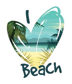 Тропический летний отпечаток с лозунгом для футбольной графики и других
