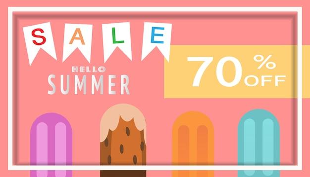 Tropical and summer time banner design.  vector illustration.