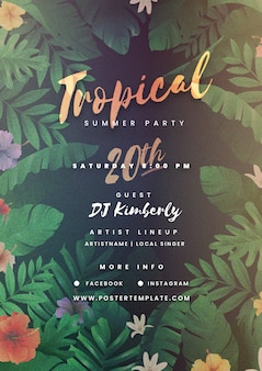 Tropicaltemplateparty poster