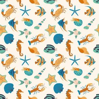 열 대 수 중 동물군 원활한 패턴