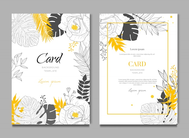 Tropical wedding card background