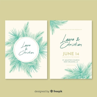 Tropical wedding invitation