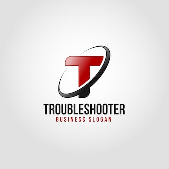Troubleshooter - letter  t logo template