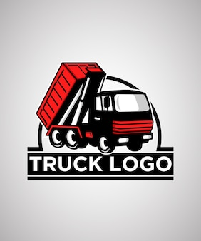 Truck badge logo design template