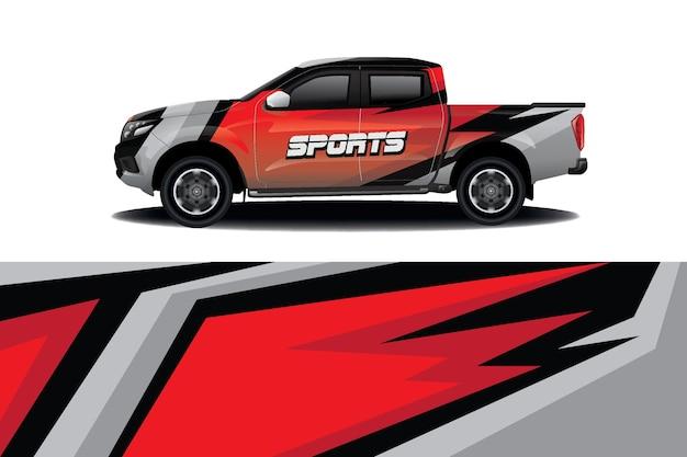 트럭 자동차 데칼 랩 디자인