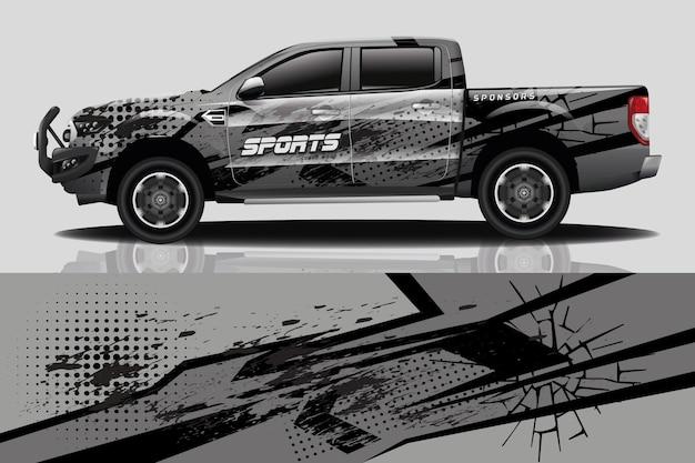 Дизайн наклейки для грузовиков и автомобилей