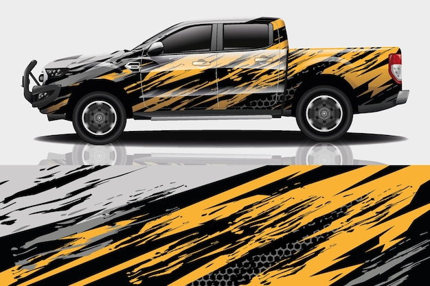 Truck car decal wrap design
