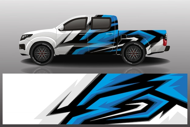 Truck car decal wrap design