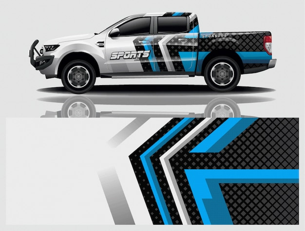 Truck car decal wrap illustration