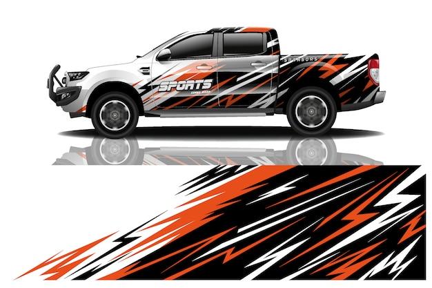 Truck car decal wrap illustration