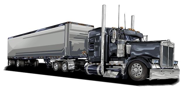 Автомобиль грузовик, изолированные на белом фоне. векторные иллюстрации.