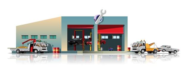 Truck car service and garage