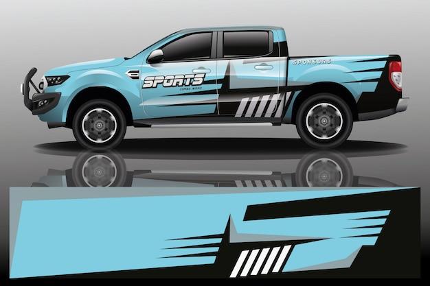 Truck car wrap design for company