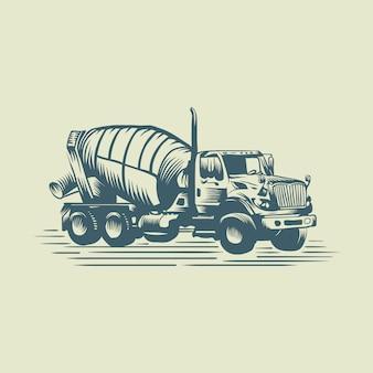 Truck cement logo
