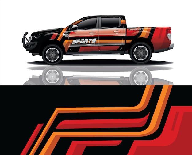 Truck decal wrap design vector