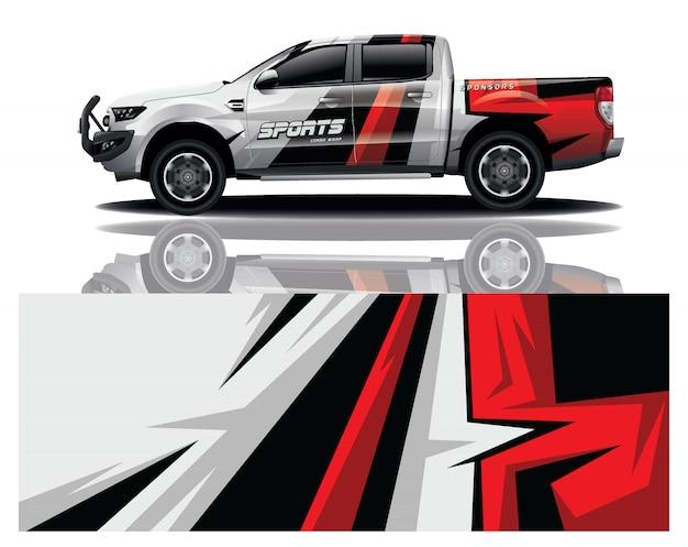 Truck decal wrap design