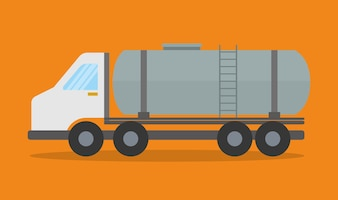 Truck design. transportation icon. flat illustration