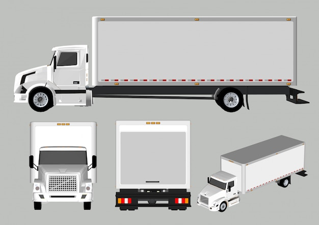 Truck different views and sides