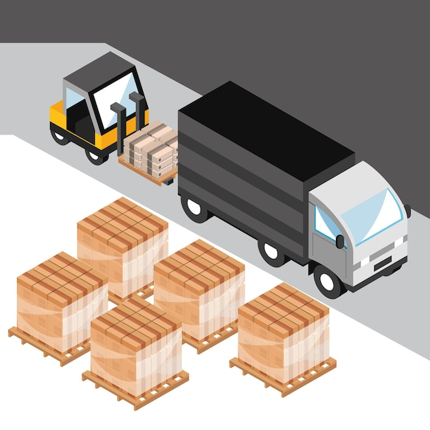 配達サービス用トラック