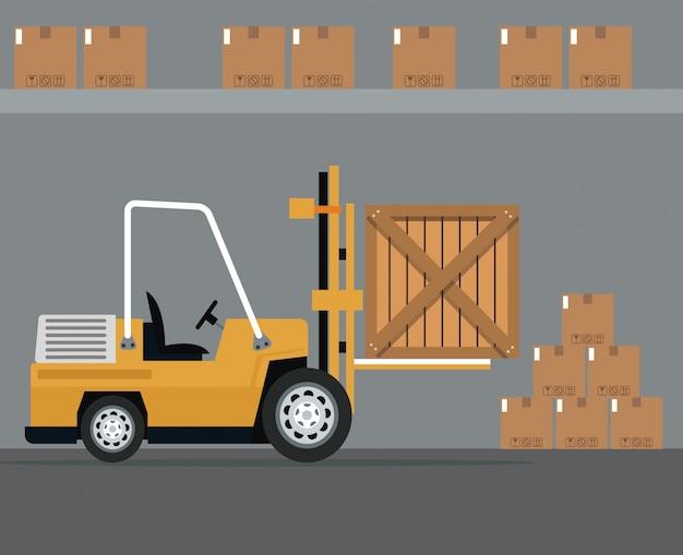 Грузовые автопогрузчики складские работы картонные коробки