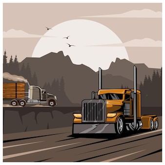 Truck on the hills
