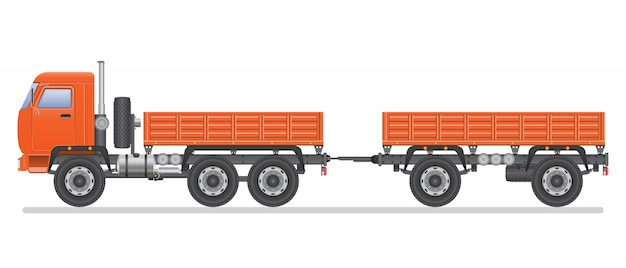 Truck illustration isolated on white