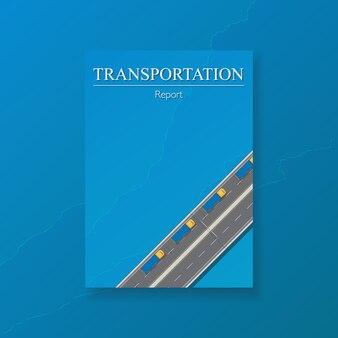 トラックロジスティック年次報告書テンプレートデザインをカバーします。