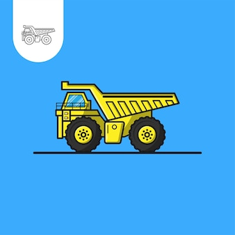 Truck mining vector design perfect use for web pattern design icon ui ux etc