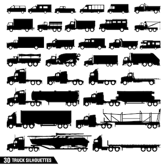 Truck silhouettes pack