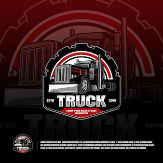 Truck sport team logo template