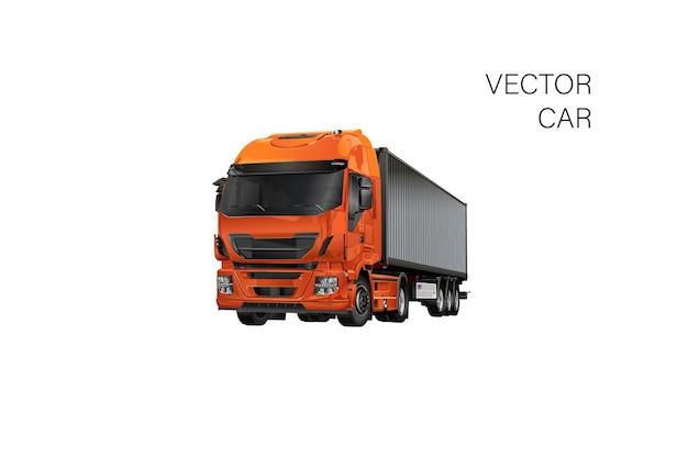 Шаблон грузовика, изолированные на белом. доступны разделенные по группам и слоям. грузовик иллюстрация реалистичный автомобиль