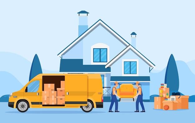 Truck for transportation of goods