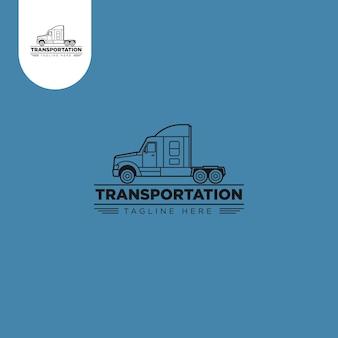 Truck transportation logo logistic vector