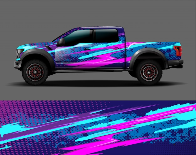 Truck vehicle wrap graphic vinyl sticker