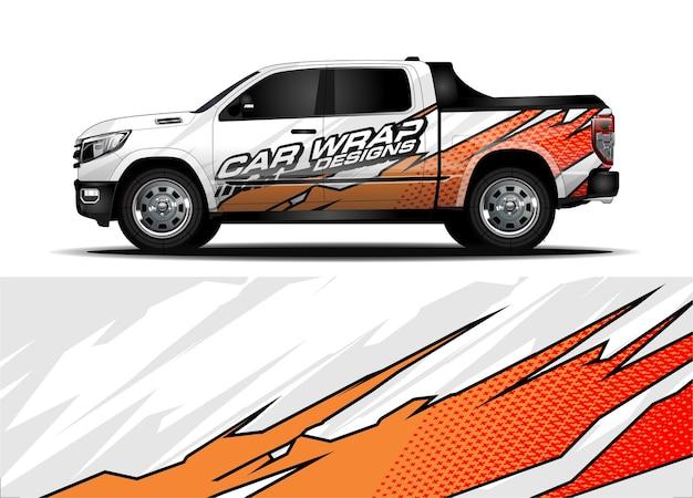 Концепция дизайна упаковки грузовиков для брендинга виниловых наклеек