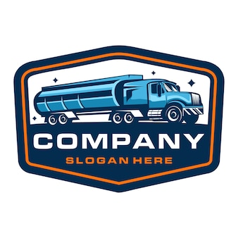Trucking company badge logo template