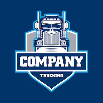 Trucking company emblem logo